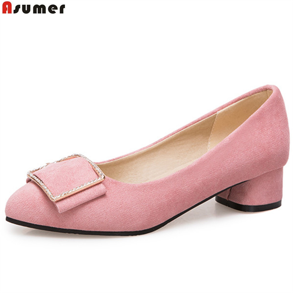 ASUMER black white pink fashion spring autumn new ladies pumps shoes pointed toe shallow women high heels shoes big size 33-43 siketu 2017 free shipping spring and autumn women shoes fashion sex high heels shoes red wedding shoes pumps g107
