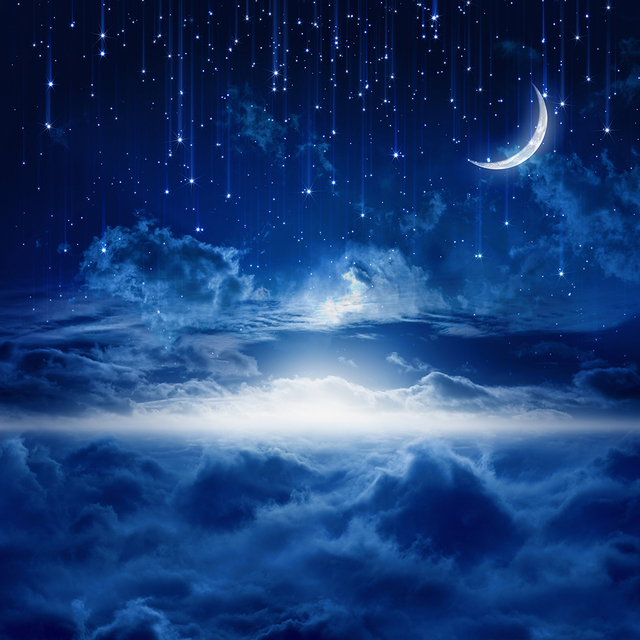 Shimmery Light Blue Crescent Moon Ring Holder