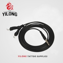 Top Quality 1pcs Professional Tattoo Clip Cord With Two Tattoo Machine 2.5M For Power Supply