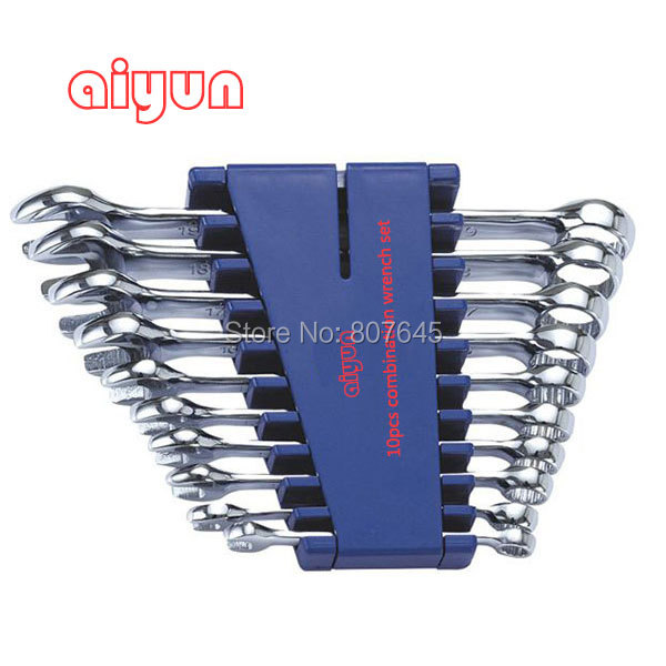 10pcs/set  combination Wrench set (Metric)  combination spanner set  цена