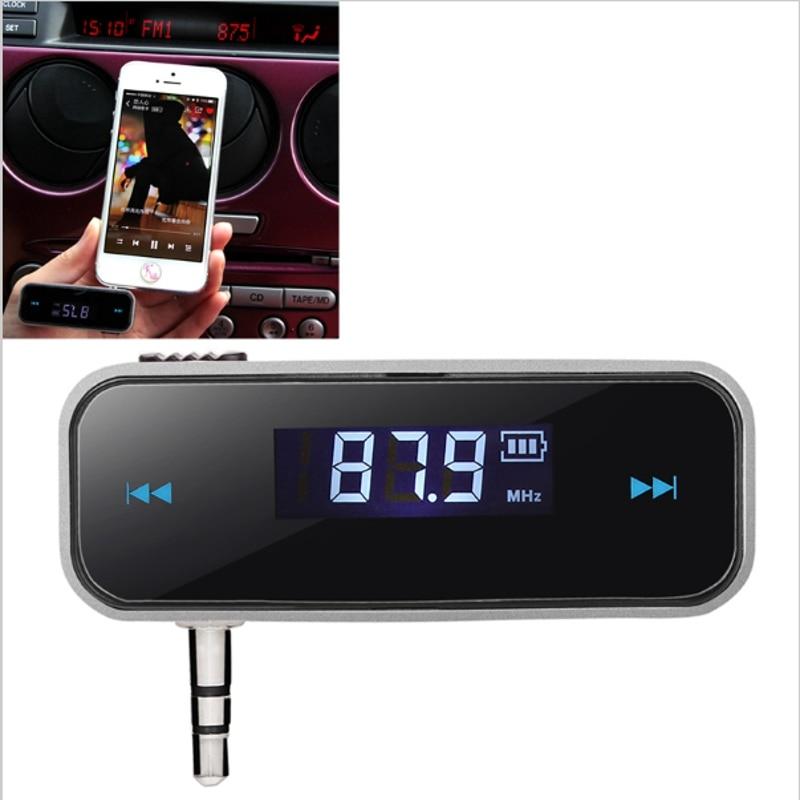 Mini bluetooth Transmisor de 3.5mm Música Audio del Transmisor FM En el coche El