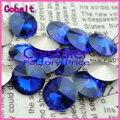 100 pçs/lote Cobalt CORES 8 MM 10 MM 12 MM 14mm 16mm 18mm 20mm Chinês Top qualidade Rodada Fantasia Pedra de Cristal Rivoli Beads