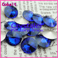 100pcs/lot Cobalt COLOR 8MM 10MM 12MM  14mm 16mm 18mm 20mm  Chinese Top Quality Round Fancy Stone Crystal Rivoli Beads