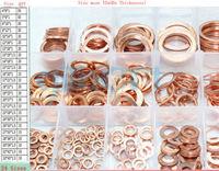 24 Size Copper Flat Gasket Sealing Ring Washer Spacer Set
