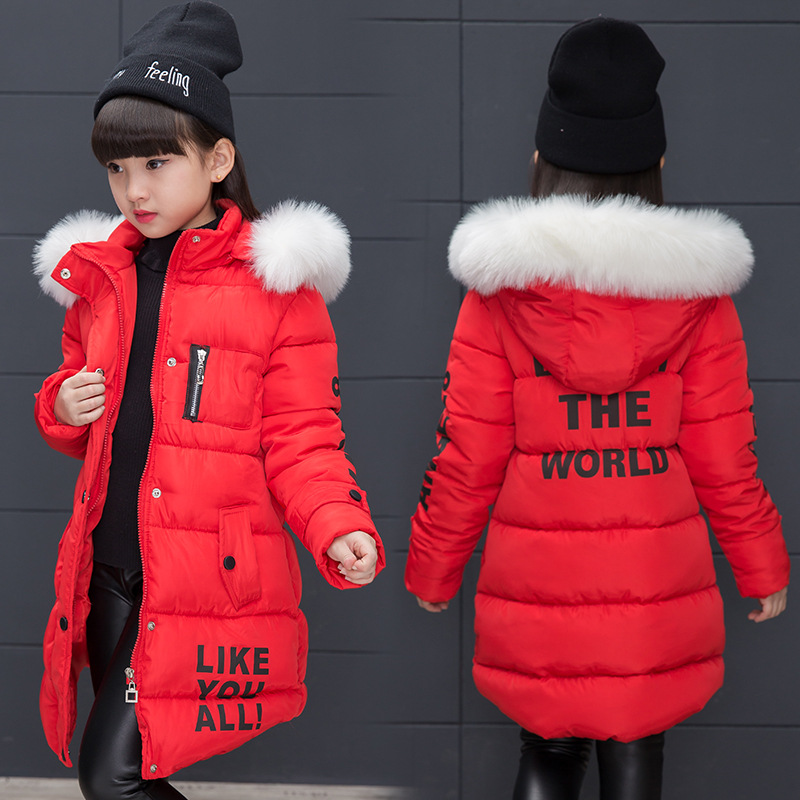2018 Children's Winter Cotton Warm Jacket Coats Cotton-padded Clothes Girls Winter Jackets Park for A Girl Winter Outwear Coat coutudi winter jacket men 2017 new men s cotton padded jacket and coats male casual outwear warm coat solid bomber parka coats