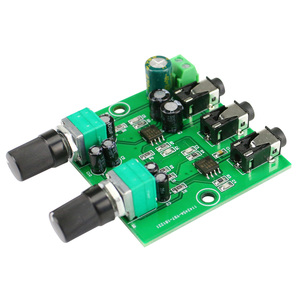Image 2 - GHXAMP Two Way Stereo Audio Signal Mixer Board For One Way amplification Output Headset Amplifier audio DIY (2 Input 1 Output)