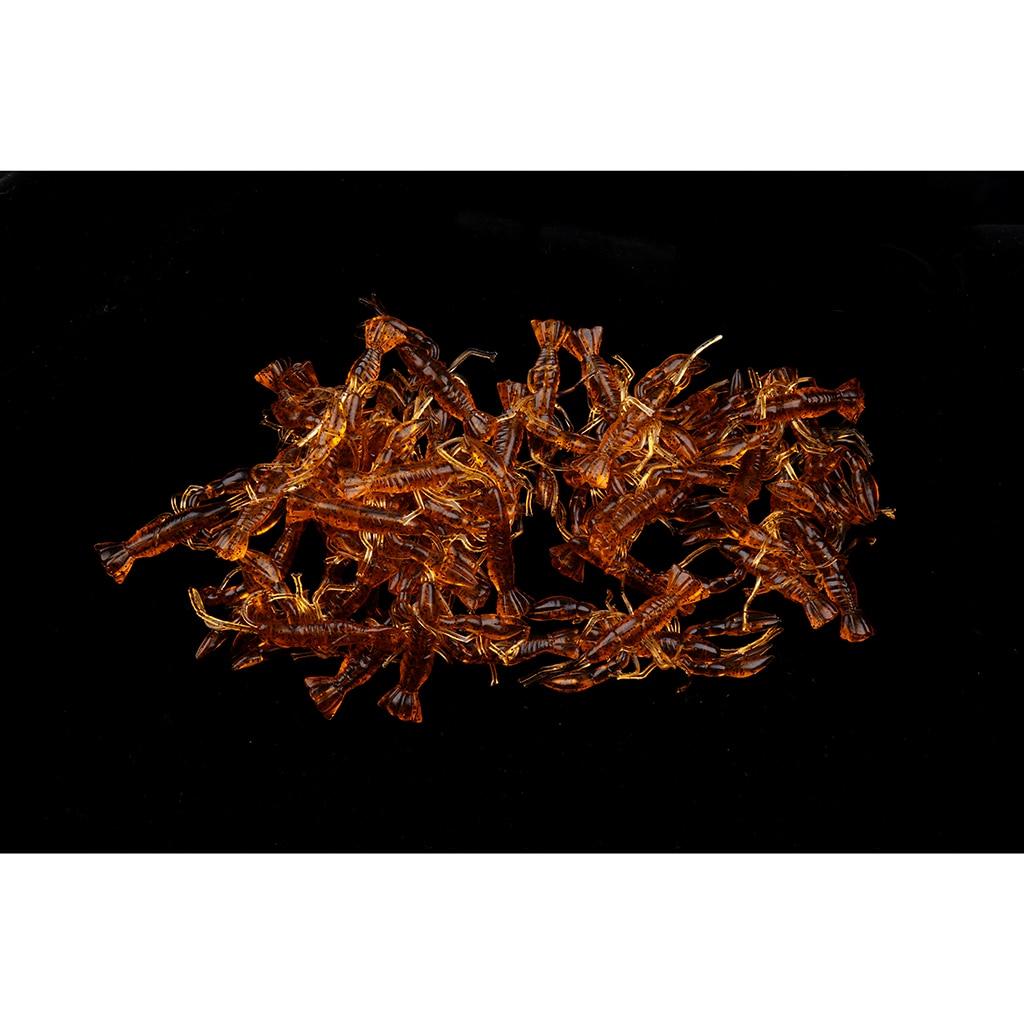 50pcs Crayfish Fishing Lures Crawfish Soft Bait Luminous Saltwater Freshwater Bionic Lobster Baits Simulation Shrimp