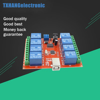12V USB Relay 8 Channel Programmable Computer Control For Smart Home New