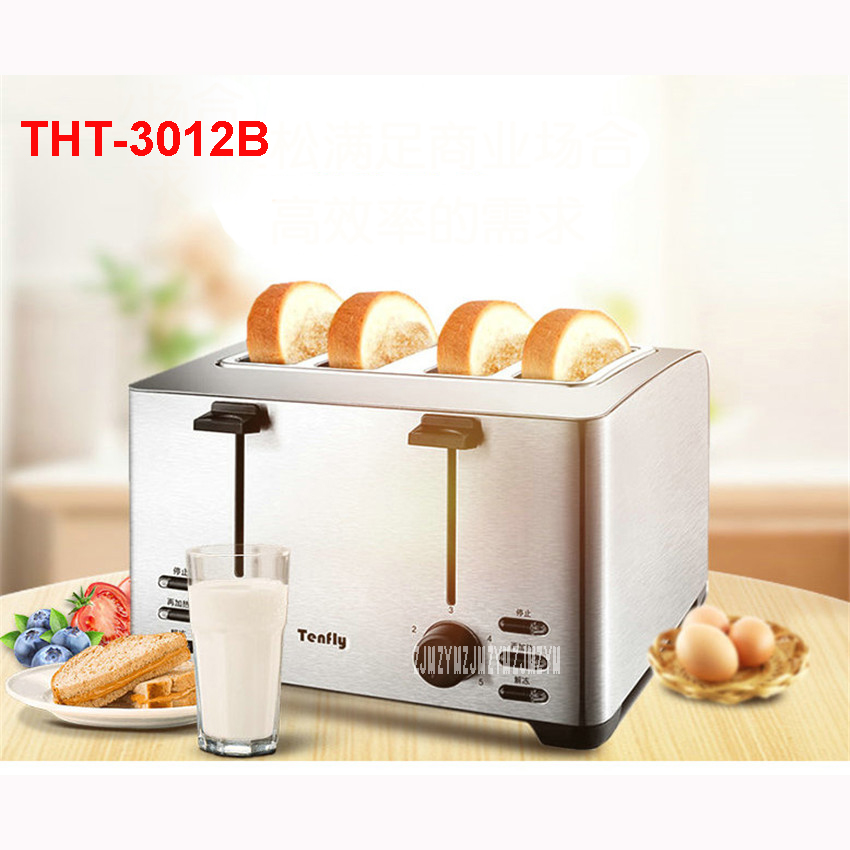 THT-3012B 220V/50Hz Multi-functional Breakfast Toaster automatic stainless steel 4 Slice Toaster Mini-toaster 1260WToaster Ovens tp760 765 hz d7 0 1221a