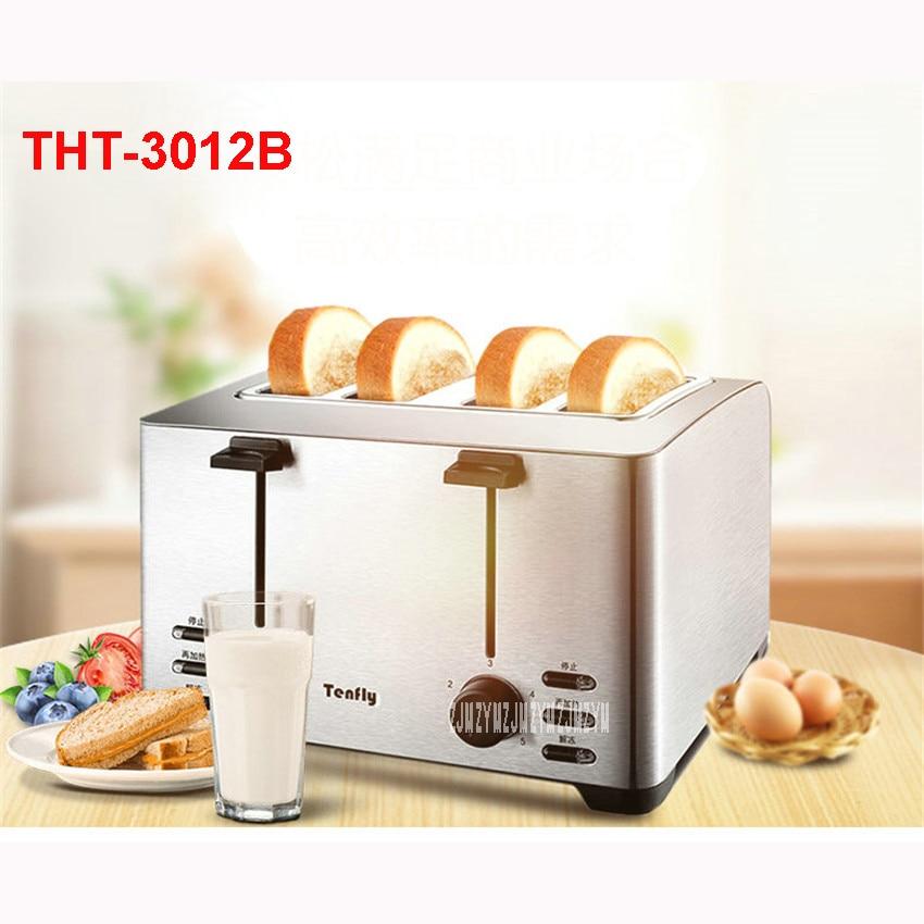 THT-3012B 220V/50Hz Multi-functional Breakfast Toaster automatic stainless steel 4 Slice Toaster Mini-toaster 1260WToaster Ovens multi functional stainless steel keychain black 2 pcs