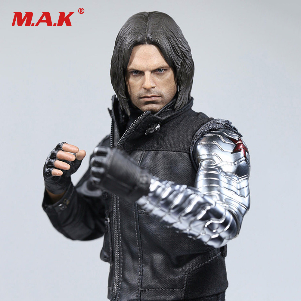 1:6 Winter Full Set Action Figure Soldier Bucky Barnes With Mechanical Arm Captain American Civil War Combat Suit Ver. with box фигурка planet of the apes action figure classic gorilla soldier 2 pack 18 см