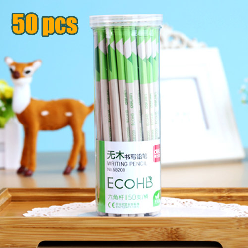 50pcs Lot Environmentally Friendly Non Toxic High Quality Hb Pencil Student Stationery For School Office Supplies In Standard Pencils From