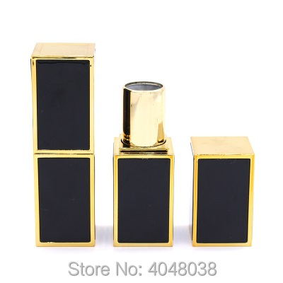 Empty Lip Balm Tube Square Lipstick Tubes 12.1mm White Black Pink Plastic Cosmetic Packaging Lip Stick Containers (1)