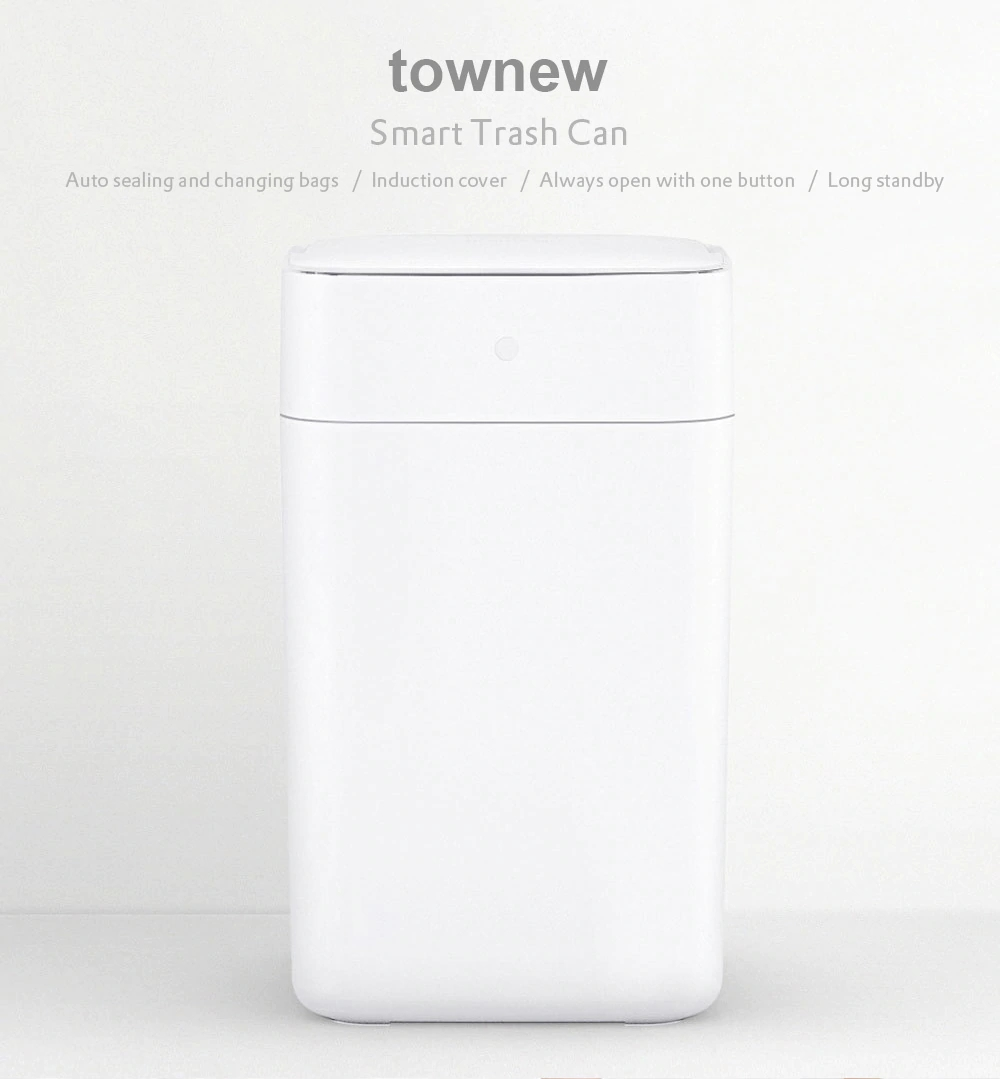 Original Xiaomi Mijia Townew T1 Smart Trash Can Motion Sensor Auto Sealing Led Induction Cover Trash 15.5l Mi Home Ashcan Bins Home Appliances