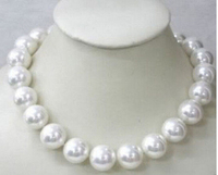 Wonderful! 12mm White south sea shell pearl necklace 18