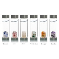 New Product Crystal Quartz Bottle Gemstone Glass water bottle Creative Energy spa cup New Year gift Health cup Gem water bottle