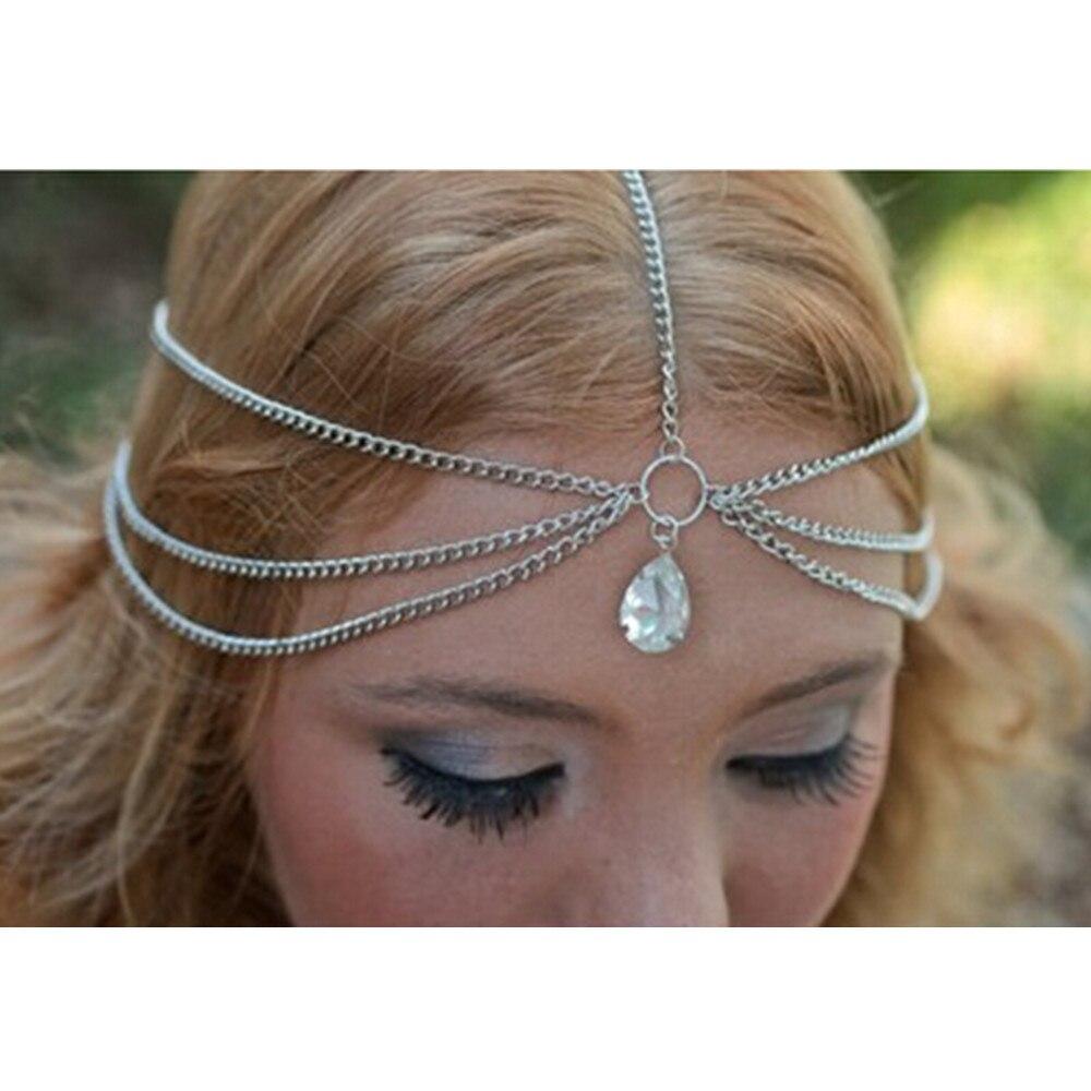 Vintage Teardrop Hair Crab haarschmuck Hairband Indian Hair accessories Head Chain Crown jewelry Headband tiara de cabelo CF102