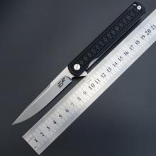 سكين شفرة قابل للطي EF16 من Eafengrow شفرة D2 من الفولاذ + مقبض G10 سكين جيب للتخييم والصيد سكين فواكه خارجي سكين أدوات EDC