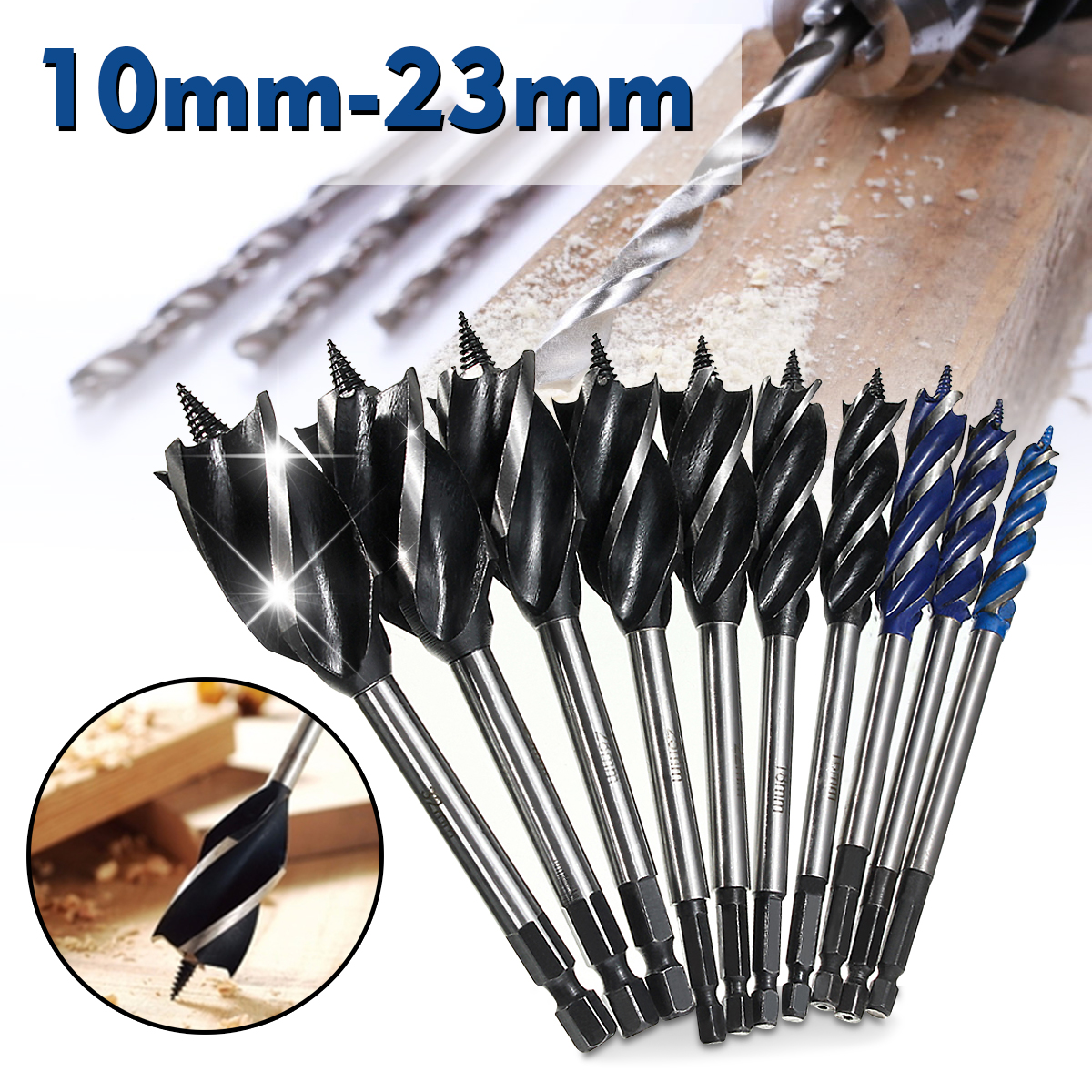 Long Auger Wood Drill Bits Hex Shank Joiner Carpenter Fast Cutting 6 x 460 mm