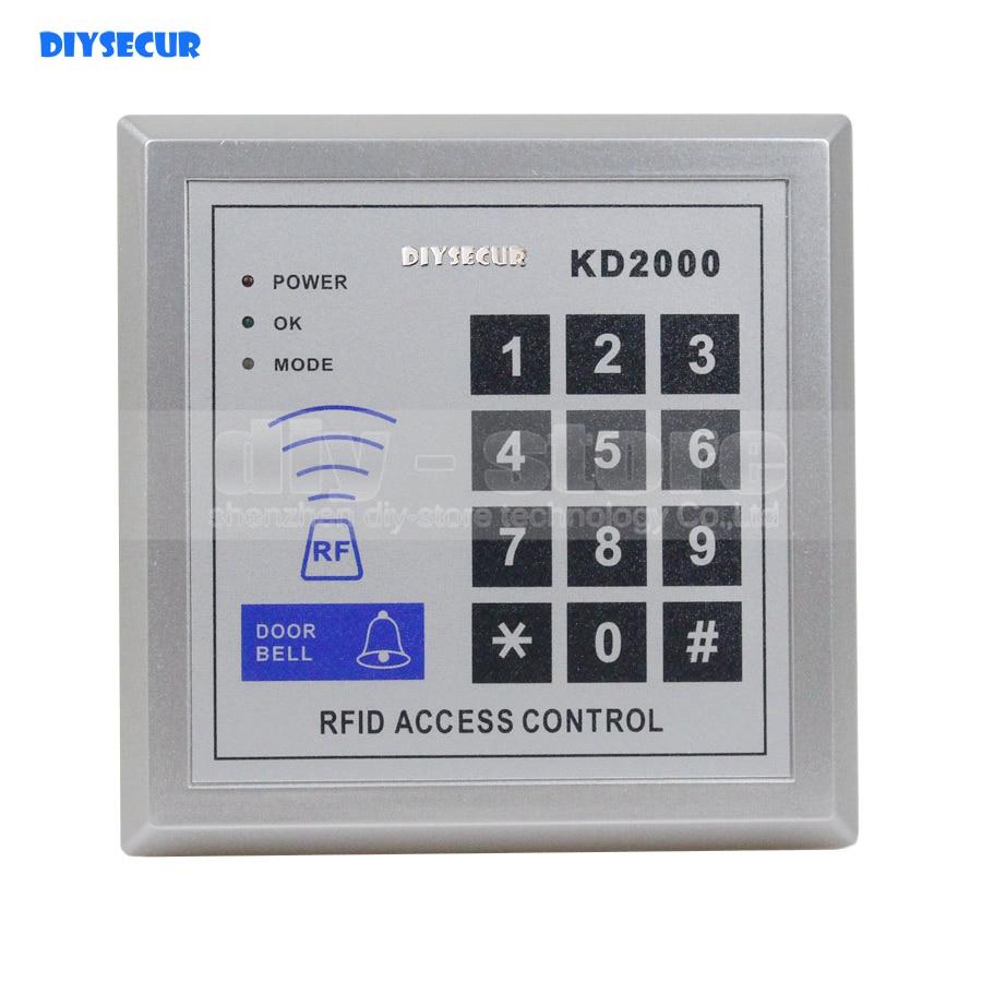 DIYSECUR 125KHz RFID Proximity Door RFID Card Reader Access Control Keypad KD2000 diysecur lcd economic door rfid proximity reader access control keypad 10 id keyfobs brand new