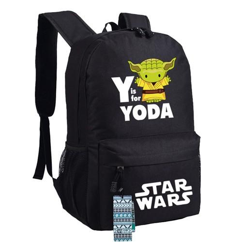 left side view master yoda star wars backpack