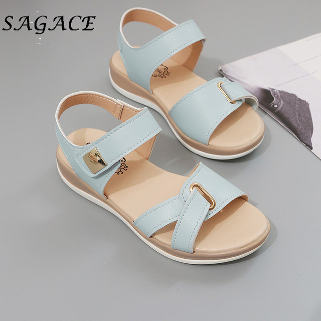 SAGACE Shoes ladies sandals wedge Elegant shoes rubber beach sandals 2019 summer pumps women shoes low heels women casual shoes