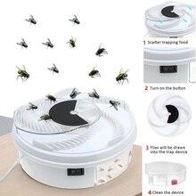 回転昆虫トラップフライトラップ電気usb自動フライキャッチャートラップ害虫制御拒否キャッチャー蚊フライング抗キラー