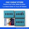1 Roland Holder 15pcs 45 Degrees Roland Blade Cricut Cutting Plotter Vinyl Cutter Blades