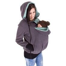 3 в 1; куртка-кенгуру для малышей; флисовая толстовка с капюшоном; Цвет антрацитово-мятный в горошек; детская одежда с капюшоном для беременных; Cosmama