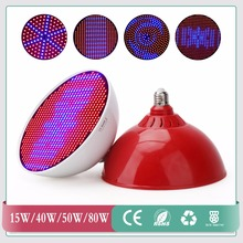 15W/40W/50W/80W Red+Blue LED Plant Grow Light Lamps E27/E40 SMD3528 AC85~265V LED Hydroponics Lamps For Flowers and Plants