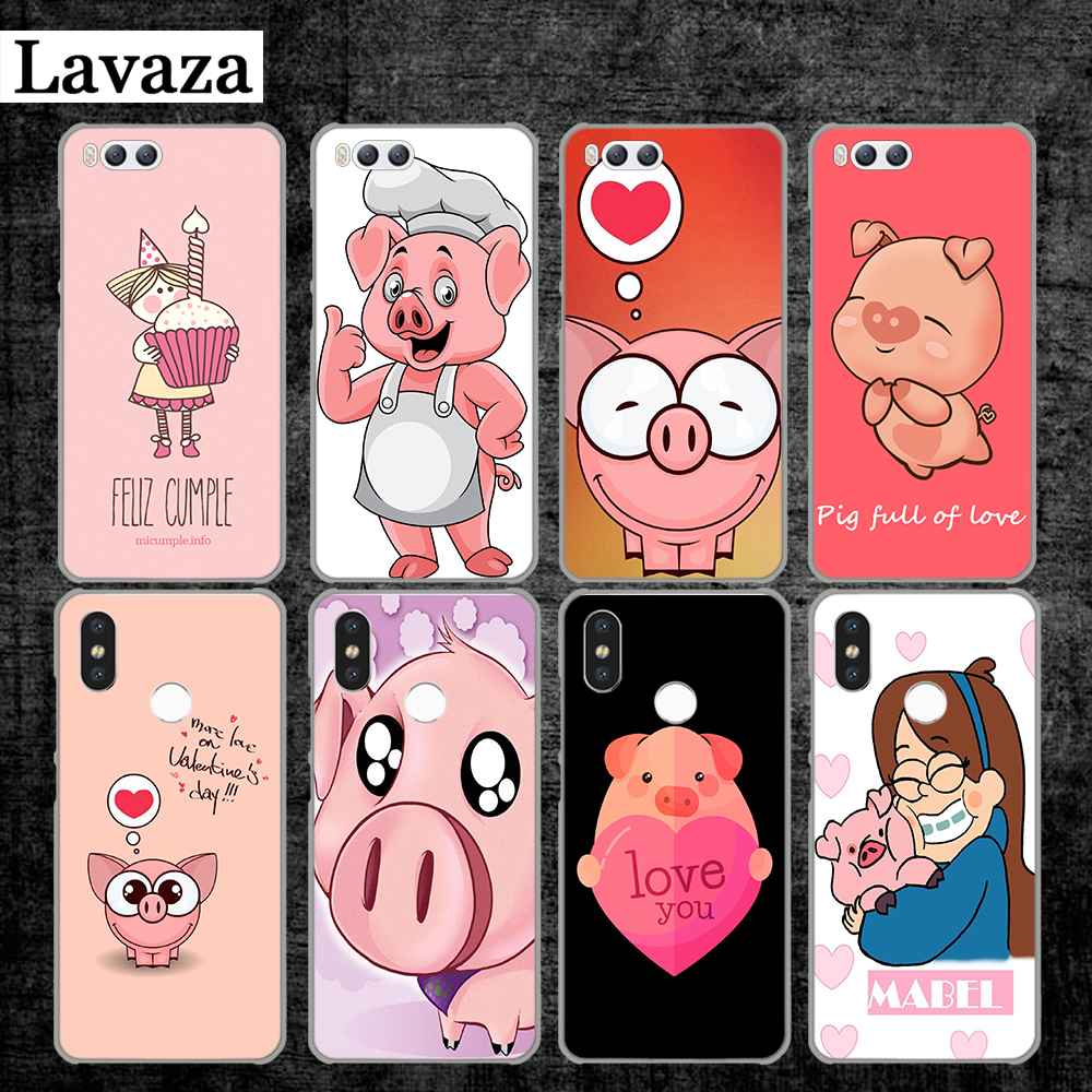 Lavaza the funny pink pig birthday phrases Hard Case for Xiaomi MI 5 5S 6 8 9 SE Lite F1 A1 A2 5X 6X Mix 2S MAX 3