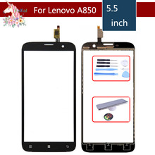 5.5 For Lenovo A850 A 850 LCD Touch Screen Digitizer Sensor Outer Glass Lens Panel Replacement цена