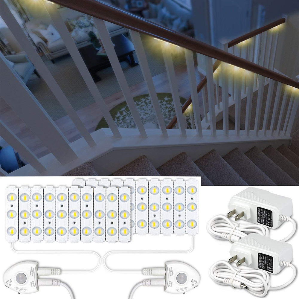 Lighting Basement Washroom Stairs: Amagle Indoor PIR Motion Sensor Led Stair Light LED Strip