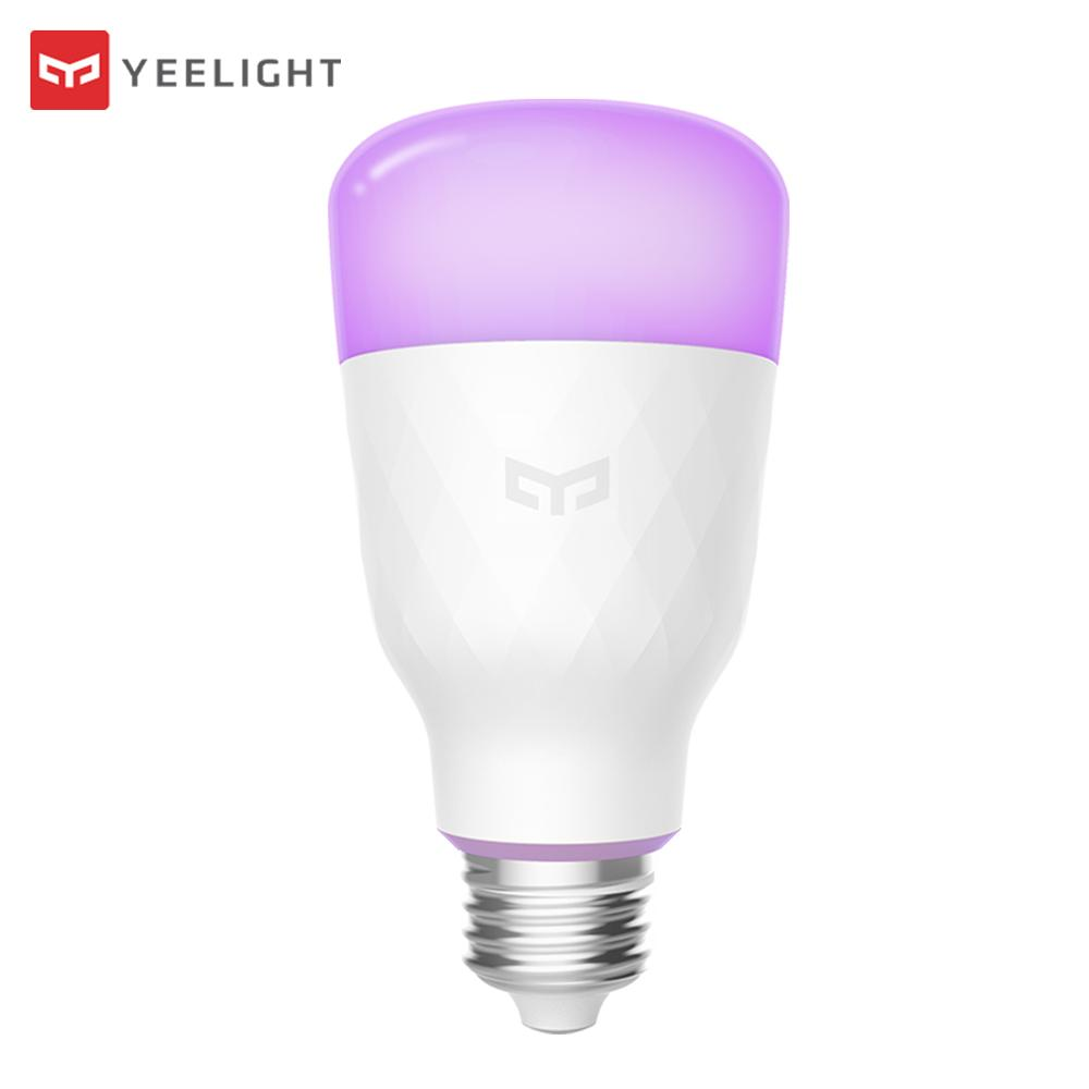 New Xiaomi Yeelight Lemon Blue II RGB LED Smart Bulb (Color) E27 10W 800 Lumens Mi Smart Light Bulbs Phone Remote Control wire