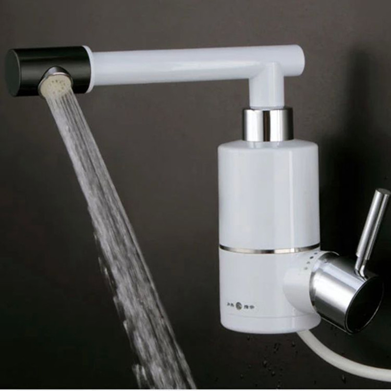 kitchen faucet with electric heating tankless shower heater with continuous hot for bathroom kitchen sink mixing tap Asia plug sognare new wall mounted bathroom bath shower faucet with handheld shower head chrome finish shower faucet set mixer tap d5205