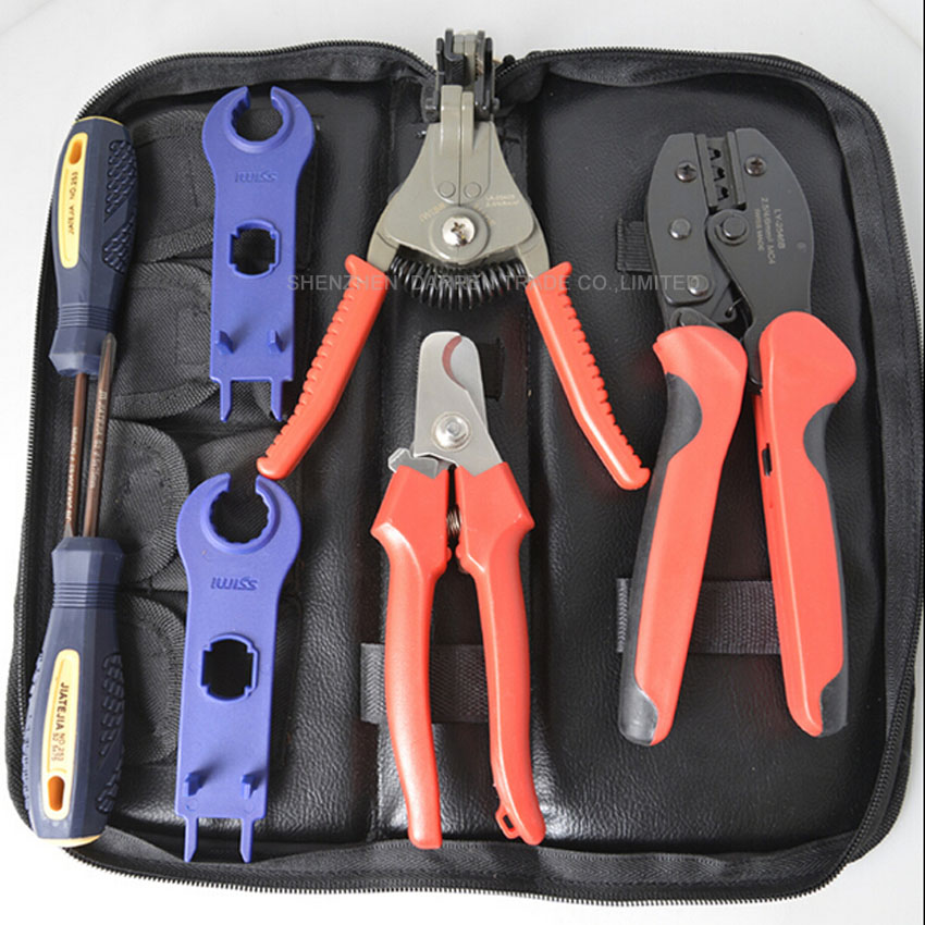 1set Crimper Solar Crimping Tool Kits for 2.5-6.0mm2 MC3 and MC4 Connectors ,LY TOOL For Solar Panel Installation solar panel tool kit ly k2546b 1 pv tool set mc4 crimping tool set only including mc3 crimping die set mc4 mc3 crimping tool