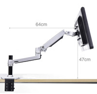XSJ8012C Desktop Full Motion 17 32 Monitor Holder Mount Mechanical Spring Arm Aluminum Monitor Support Loading 10kgs
