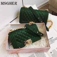 MSGHER High class Design Mini Small Women Bags Female Chain Jelly Bag PU Leather Shoulder Bags Handbags for Women WB1816