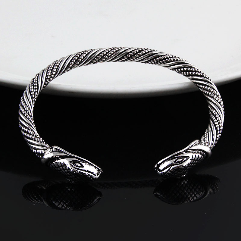 Bracelet Viking tête serpent  4