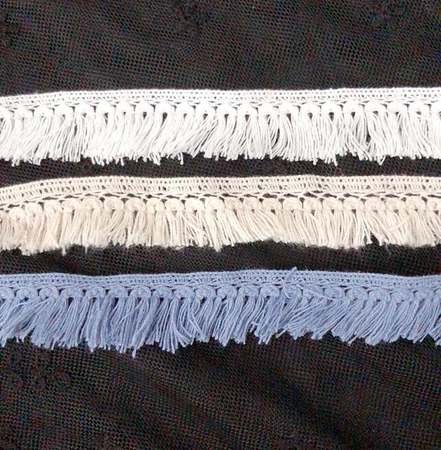 5 metros de Algodão Borla Rendas de Oscilação Fringe Lace Trims Para Costura DIY Artesanato Materiais Artesanais das Crianças Roupas Acessório