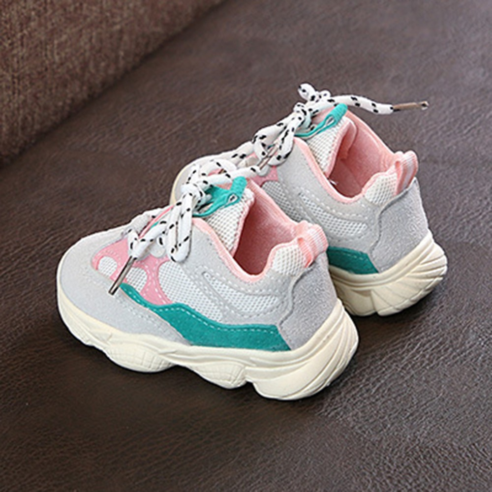 0 2 years old baby Girl Boy Toddler Shoes Infant Casual Running Shoes Soft Bottom Comfortable Stitching Color Children Sneaker in Sneakers from Mother Kids