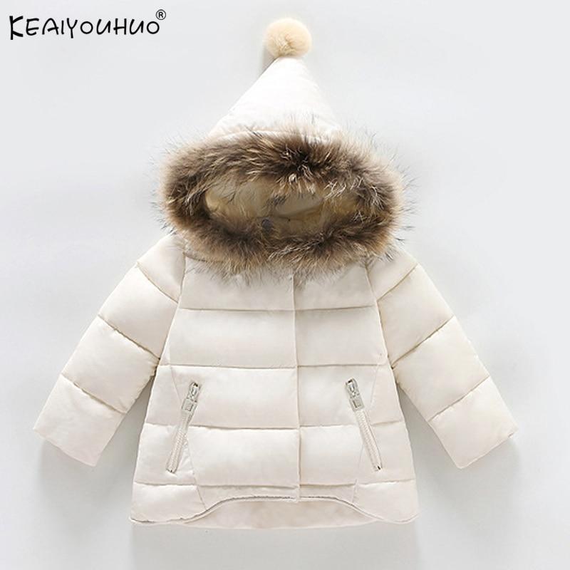 New Baby Girls Jackets Children Clothes 2018 Autumn Winter Coats For Girls Down Jackets Baby Boy Coat Kids Hooded Warm Outerwear стоимость