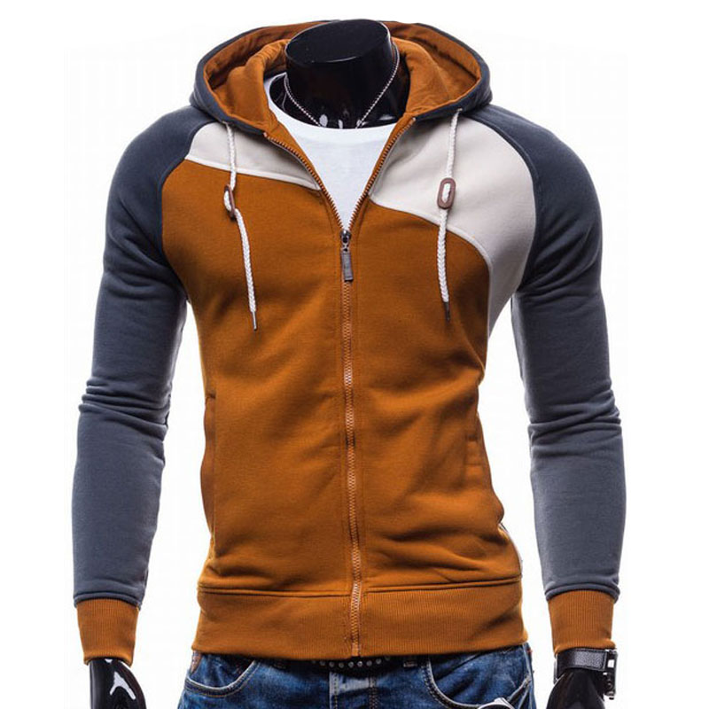2017 Hoodies Men Sudaderas Hombre Hip Hop Mens Brand Leisure Zipper Jacket Hoodie Sweatshirt Suit Slim Fit Men Hoody XXL