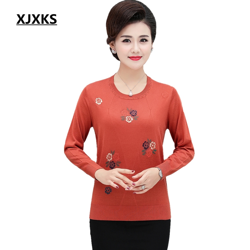XJXKS Autumn And Winter Jumper Womens Sweaters Pullover Knitted Pull Femme Hiver Fashion High Quality Women