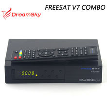 Freesat V7 Combo DVB S2 + T2 del DVB Receptor de Satélite con PowerVu Llave Biss Cccam Newcam Youtube + USB Wifi Set Top caja