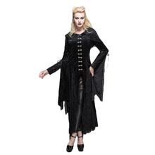 Steampunk Womens Priestess Witch Dress Steampunk Printed Bandage Hooded Long Ropes Rose Floral Long Sleeve Casual Dresses