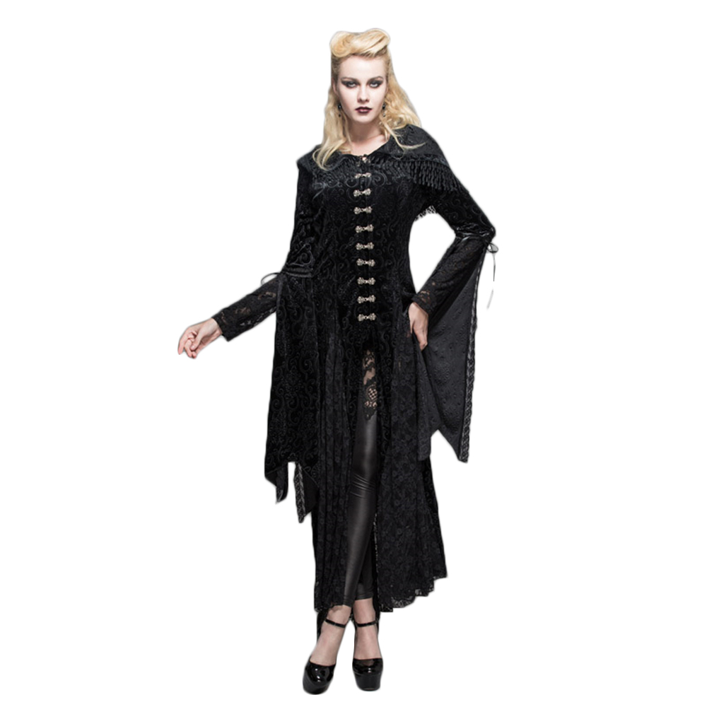 Steampunk Womens Priestess Witch Dress Steampunk Printed Bandage Hooded Long Ropes Rose Floral Long Sleeve Casual Dresses шины кама euro 228 205 75 r15 97t