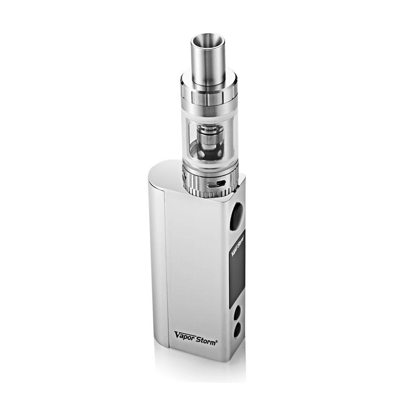 все цены на Vapor Storm V80 TC 80W Temperature Control EC II Tank 4.5ml Box Mod Vape Electronic Cigarette Fashion E Cigarettes онлайн