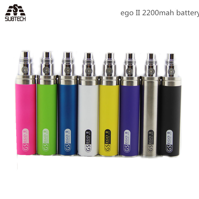 5pcs GS eGo II Battery 2200mah E Cigarettes Updated EGO I Week Battery For 510 CE4 Atomizer GS Ego 2 Battery