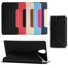 """Ultra slim stand pu leather skin case tirón de la cubierta del libro de negocios para lenovo phab2 pb2-650n pb2-650m pb2-650y 6.4 """"Protector de Shell"""
